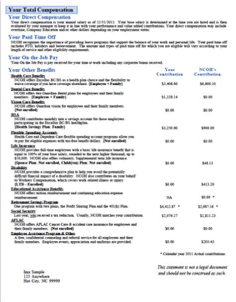 employee benefits statement template best photos of employee benefits statement template