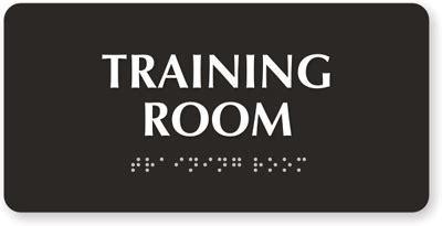 training room tactile touch braille sign sku se 5273