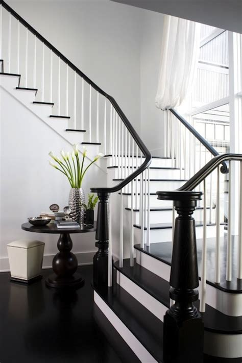 black stair railing eclectic entrancefoyer kelly