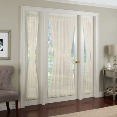 curtain rods for side panels crushed voile rod pocket side light window curtain panel