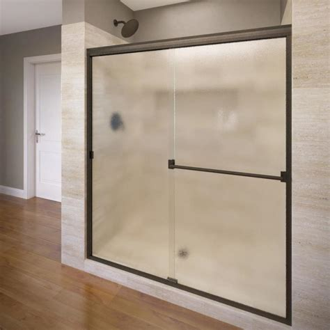 Sliding Shower Doors Lowes Shop Basco Classic 56 In To 60 In W X 70 In H Frameless Sliding Shower Door At Lowes