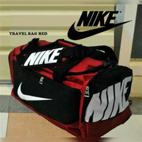 Travel Bag Nike Hitam Merah jual nike bag fitness xl tas ukuran besar