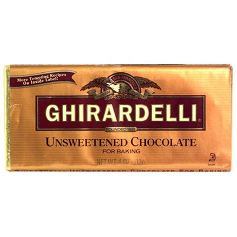 ghirardelli unsweetened chocolate baking bars 4 ounce bars pack of 12 healthy beverages