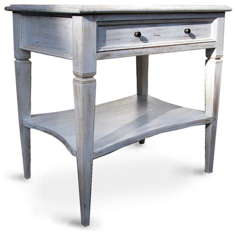 tropical accent tables oxford 1 drawer side table white wash tropical side