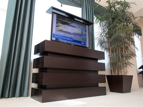 Bedroom Pop Up Tv Small Le Bloc Motorized Pop Up Tv Lift Cabinet Built By