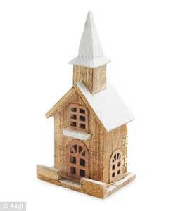 how to make wooden a christmas church aldi takes on lewis with copycat versions of its decorations daily mail