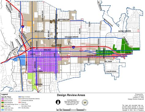 Design Mba California Scam by Pasadena Arts Area Rapid Transit System Map California