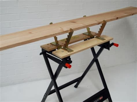 wood cutting bench saw horse workmate bench jaws clamp fits black decker