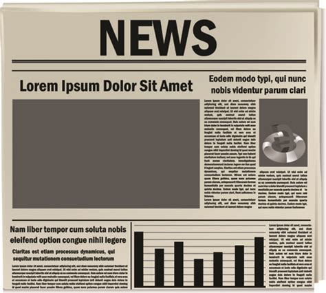 newspaper layout free download creative newspaper design elements vector set free vector