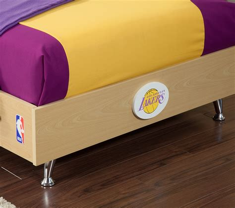 lakers bedroom dreamfurniture com nba basketball los angeles lakers bedroom in a box