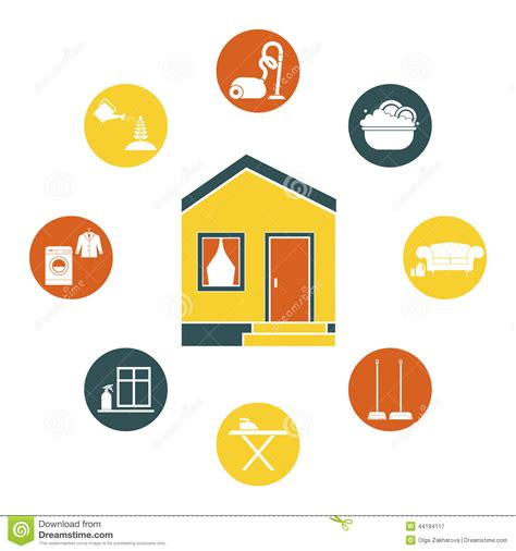 care com house cleaning house cleaning stock vector image 44194117
