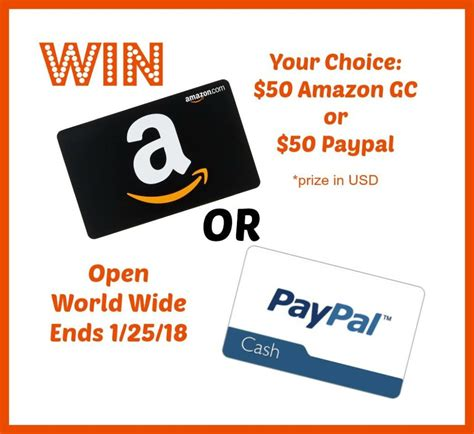 Amazon Gift Card To Cash - just because 50 amazon gift card or paypal cash giveaway