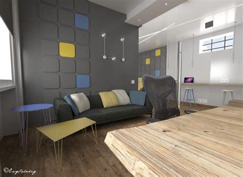 colore pareti ufficio questo permette di movimento alla parete senza