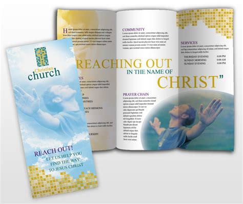 church brochure templates free document moved