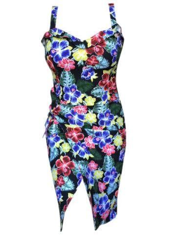 Sale By Rivantie Sz M L hawaiian betty tie dress by switchblade stiletto
