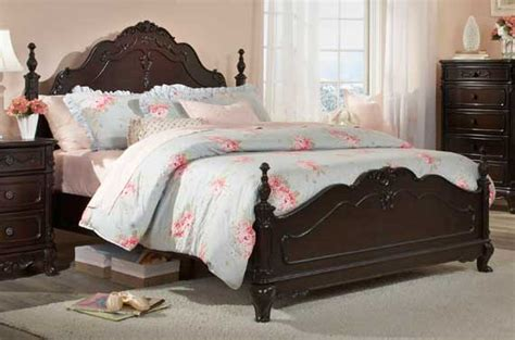 cinderella bedroom furniture homelegance cinderella poster bedroom set dark cherry