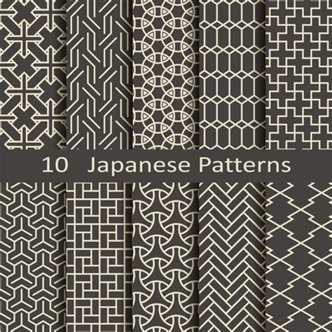 pattern japanese vector vector japanese style seamless patterns vector pattern