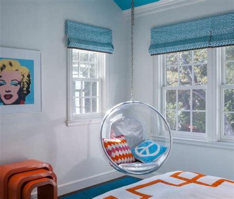 schlaufenvorhang kinderzimmer blau jugendzimmer gestalten 100 faszinierende ideen