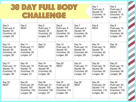 new year diet and exercise plan 30 day challenge for the new year get arms abs back and legs exercise
