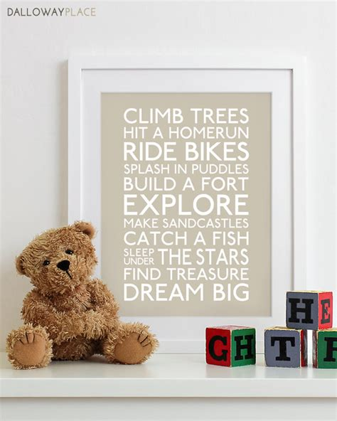 Etsy Nursery Decor Baby Boy Nursery Print Nursery Decor Wall