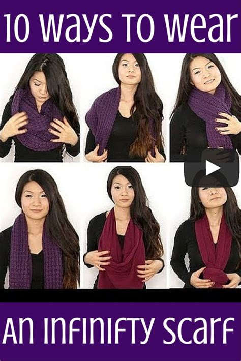 10 ways to wear an infinity scarf this tutorial on how to wear an infinity scarf