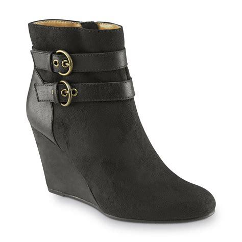 smith s ellis black wedge bootie shoes
