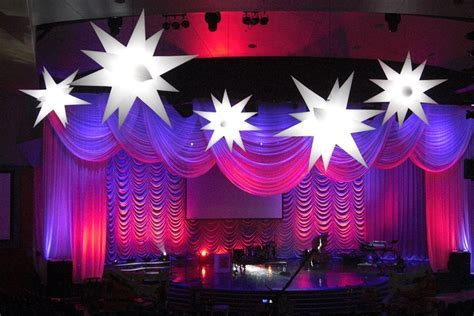 Purple Stage Decoration. Beautiful Stage Decoration In
