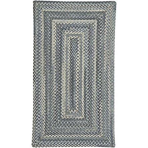 8 foot braided rugs buy capel rugs tooele braided 8 foot x 11 foot area rug in blue jean from bed bath beyond