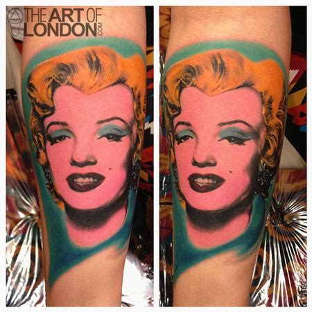 andy warhol tattoo andy warhol marilyn by reese tattoonow
