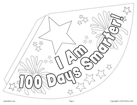 100th day of school party hat activity craft 2 free