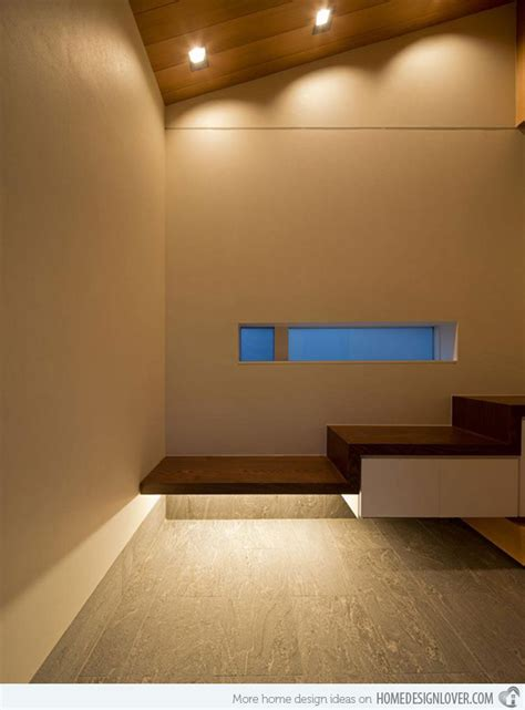 Kitchen Island With Dining Table Contemporary Minimalist House Of Corridor In Japan Home