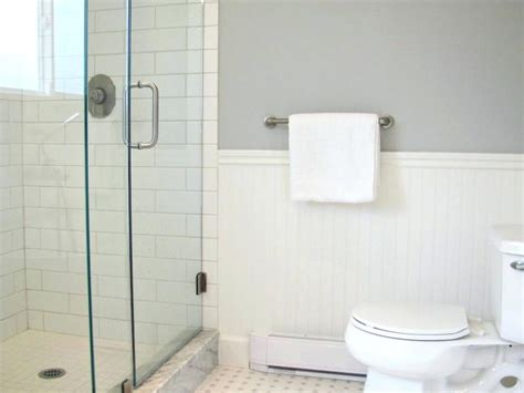 bathroom with shower and toilet design feature royale black and white subway tile bathroom for modern designs