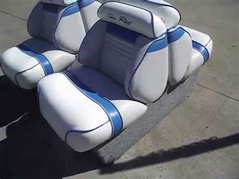 how to open back to back boat seats sold sea ray back to back lounge seats youtube