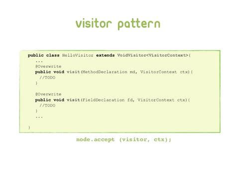 visitor pattern in java tutorial sonar rules in action with walkmod