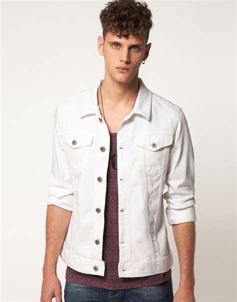 Jaket Denim White River Island White Denim Jacket In White For Lyst