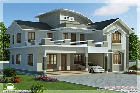 new home house plans 2960 sq 4 bedroom villa design kerala home design