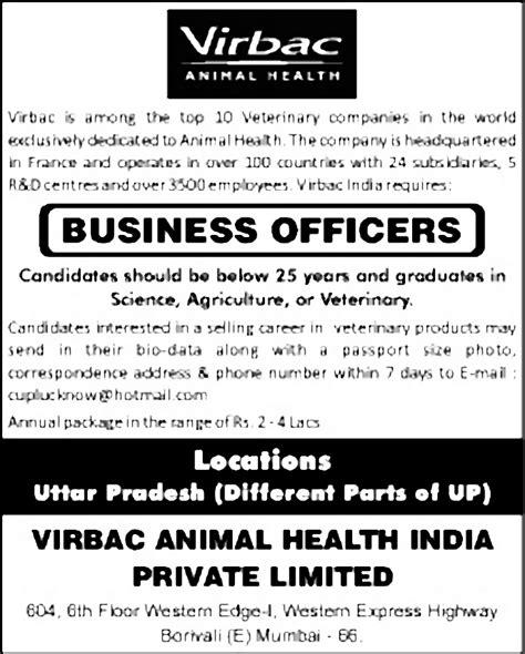 Virbac Shoo Sebazole Animal Health 1 business officers uttar pradesh office administration timesascent