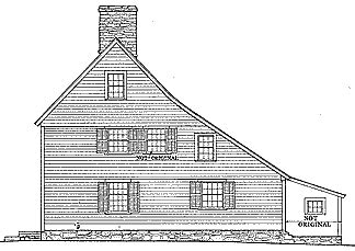New England Saltbox House by Colonial Houses
