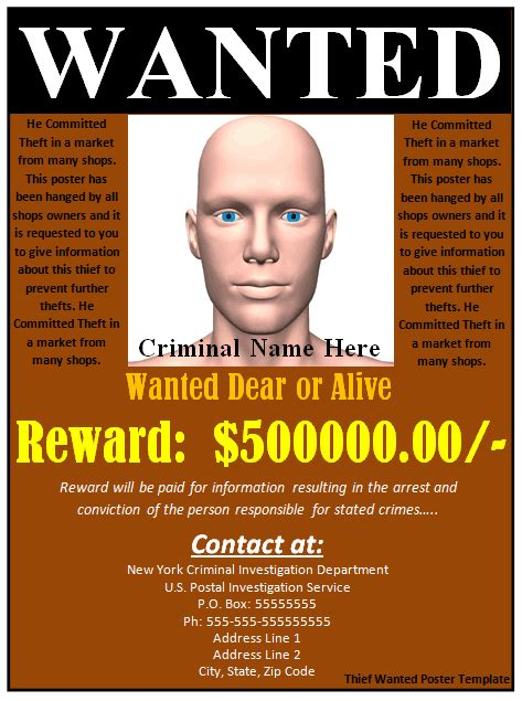 most wanted poster template 29 free wanted poster templates fbi and west