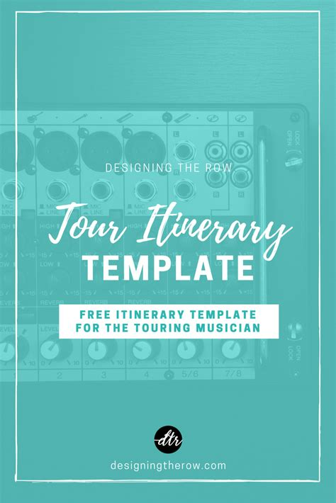 Tour Design Template by Tour Itinerary Template Designing The Row Nashville