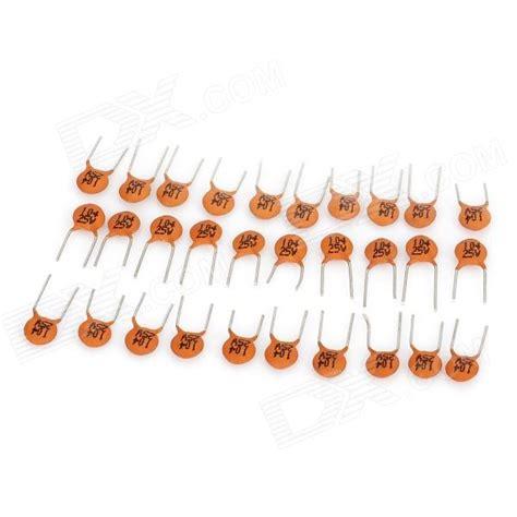 brown capacitor 104 104 25v ceramic disc capacitor orange brown 30 pcs free shipping dealextreme