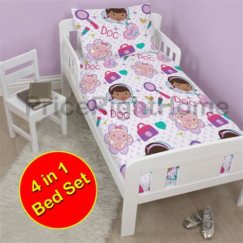 Toddler Bed Bundle Set Junior Toddler Bed Bedding Bundles 4 In 1 Quilt Pillow Duvet Covers Ebay