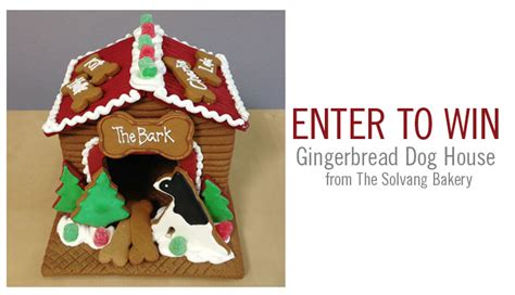 the dog house bakery giveaway gingerbread dog house the bark