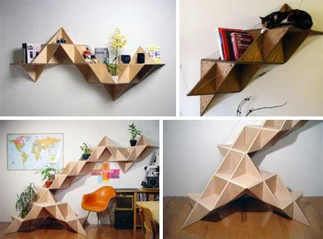 T Shelf by 25 More Unique Book Shelving Storage Solutions Urbanist