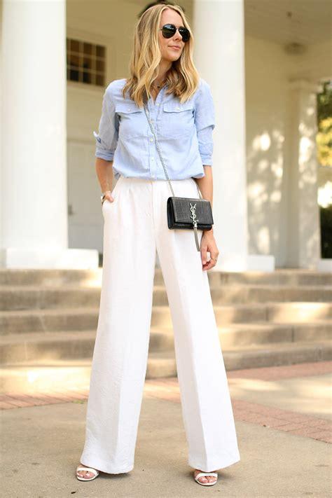 Dressing Up Wide Leg Make Them Your Fashion Forward Denim Choice by White Wide Leg Fashion Jackson