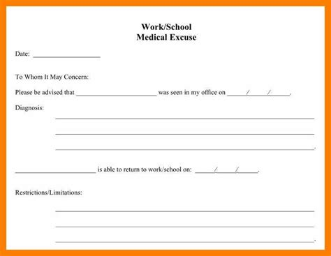 return to work slip template return to work slip template resume format