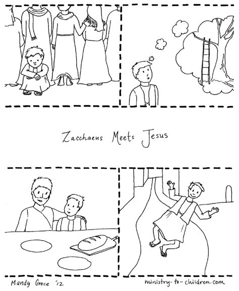 free zacchaeus in tree coloring pages