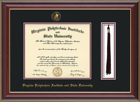 Virginia Tech Mba Arlington by Virginia Tech Diploma Frames College Diploma Frames