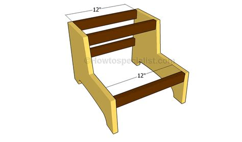 Building A Step Stool by How To Build A Step Stool Howtospecialist How To Build