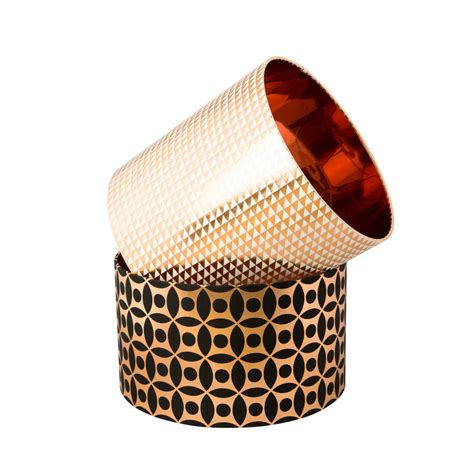 patterned drum l shades copper circle pattern drum lshade by penelope hope